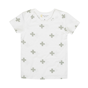 Short Sleeve Bamboo T-Shirt - Grey Cross