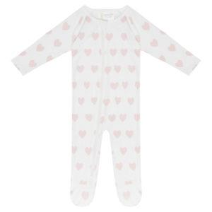Longsleeve Bodysuit - Pink Hearts
