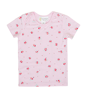Short Sleeve Bamboo T-Shirt - Pink Floral