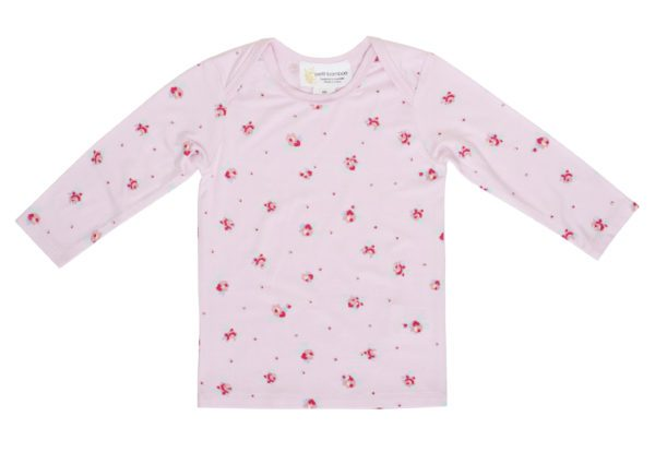 Bamboo Long Sleeve Top Pink Floral
