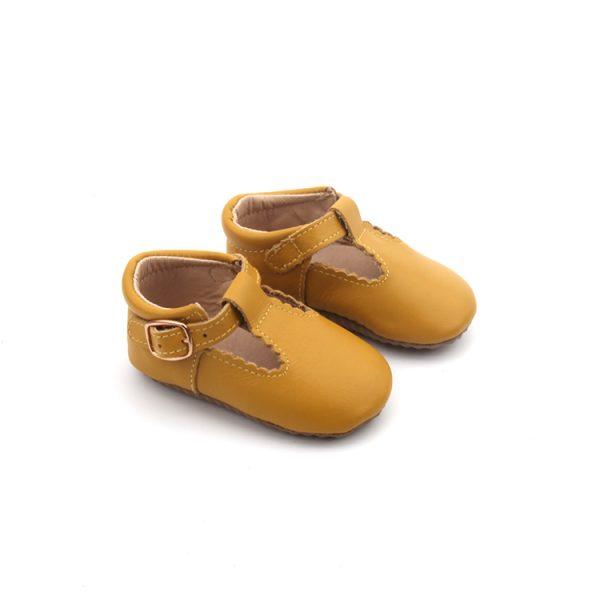 Mustard T-Bar Shoes