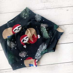 Christmas-sloth-baby-shorts
