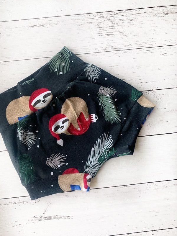 Christmas-sloth-baby-shorts