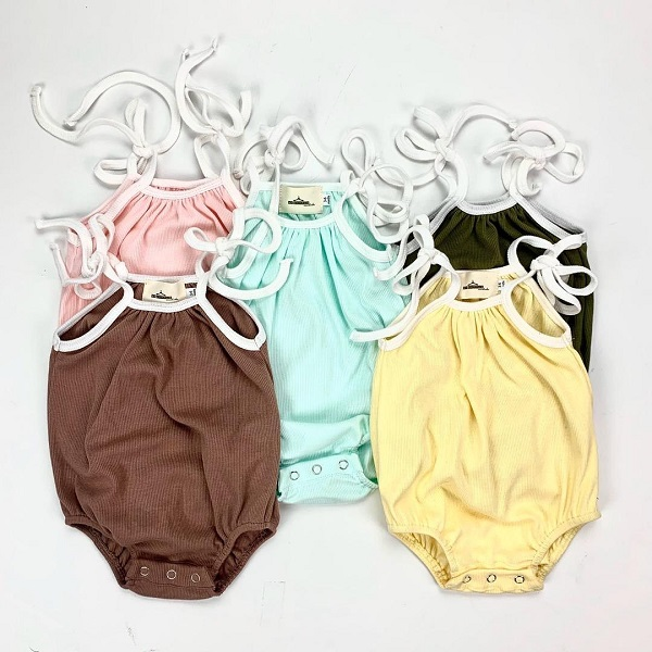 Candy Ribbed Rompers