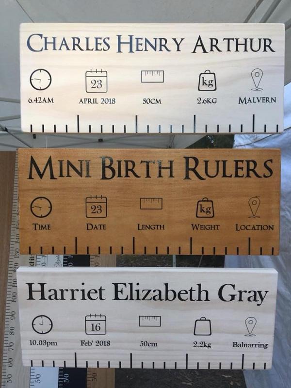 Personalised Ruler Birth Charts