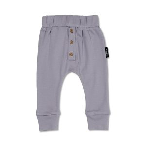 Lavender Button Slouch Pants