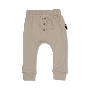 Taupe Button Slouch Pants