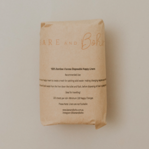 Bamboo Disposable Nappy Liners