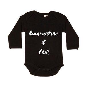 Quarantine & Chill Longsleeve Bodysuit