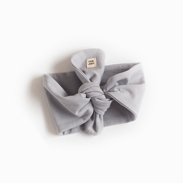 Organic Cotton Headband Grey