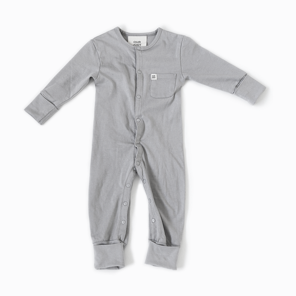 Organic Full-Length Bodysuit grey