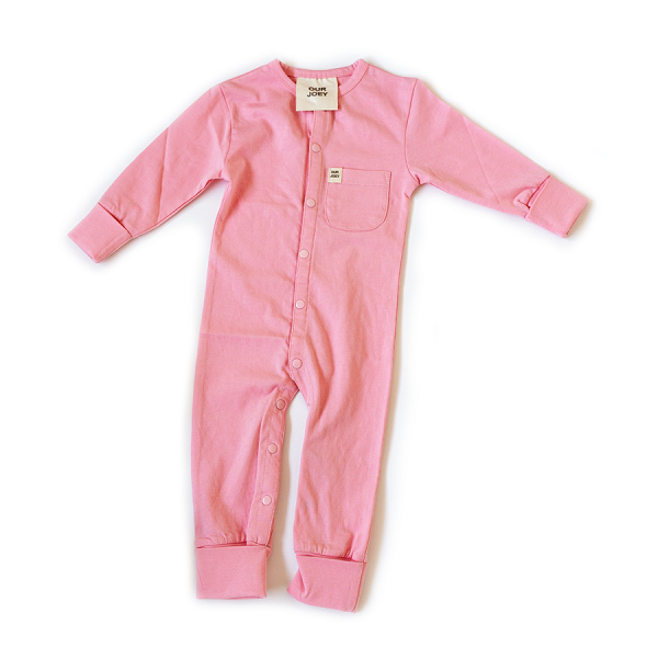 Organic Full-Length Bodysuit pink