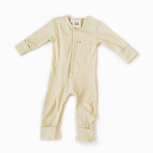 Organic Full-Length Bodysuit yellow