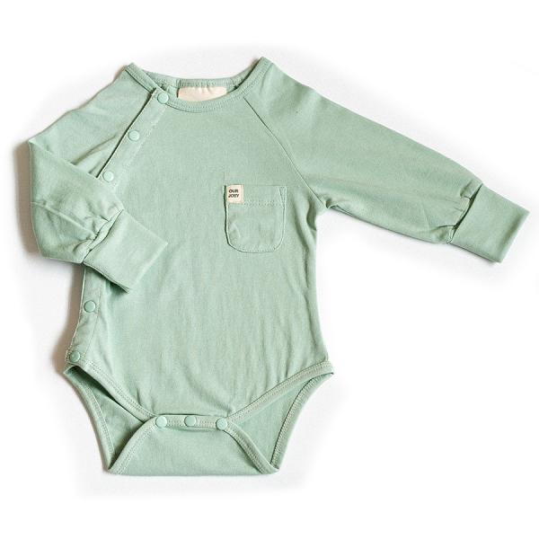 Organic Full-Length Bodysuit green