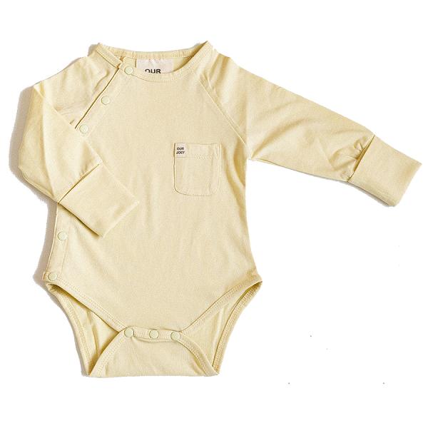 Organic Full-Length Bodysuit yellow