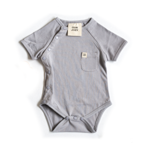 Organic Short Sleeve Bodysuit Grey