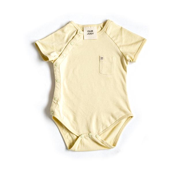 Organic Short Sleeve Bodysuit yellow