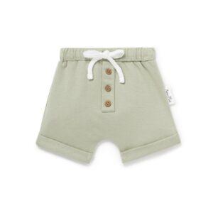 Sage Button Shorts