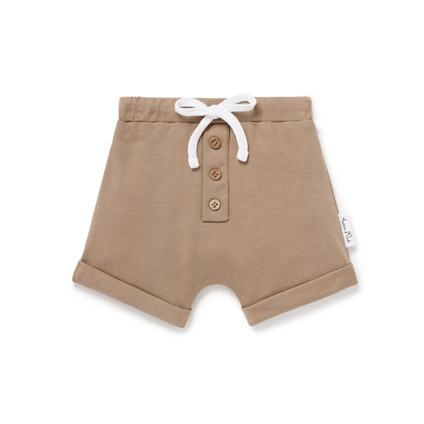Clay Button Shorts