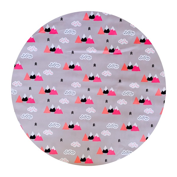 Waterproof Baby Play Mat | Pink Geometric Mountains
