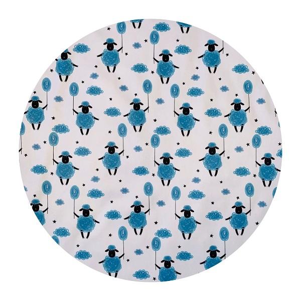 Waterproof Baby Play Mat | Blue Sheep