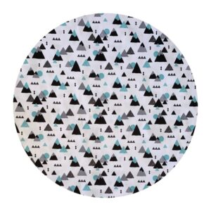 Waterproof Baby Play Mat | Blue Geometric Mountains