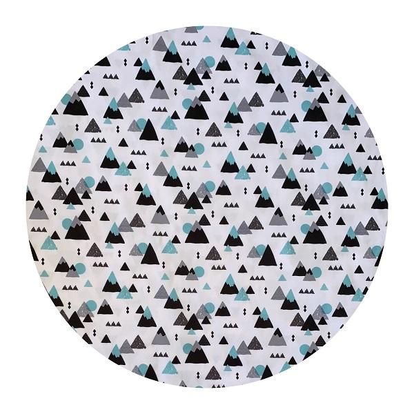 Waterproof Baby Play Mat | Blue Geometric Mountains