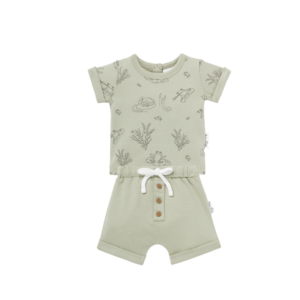 Frog Pond Tee & Sage Shorts Set
