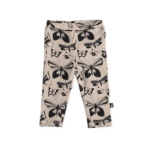 Beige Butterfly Leggings