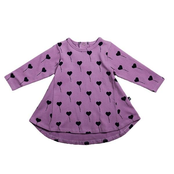 Lilac Balloon Swing Dress