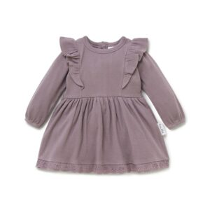 Elderberry Ruffle Dress