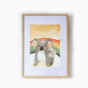 Mumma Koala and her Joey Fine Art Print