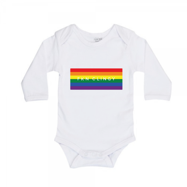 FKN Clingy Longsleeve Bodysuit Rainbow Print