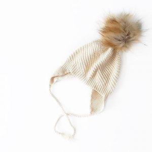 Knit Beanies - Cream