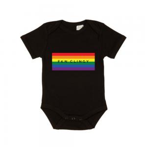 FKN Clingy Bodysuit Rainbow Print