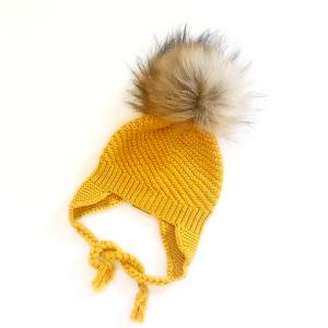 Knit Beanies - Mustard