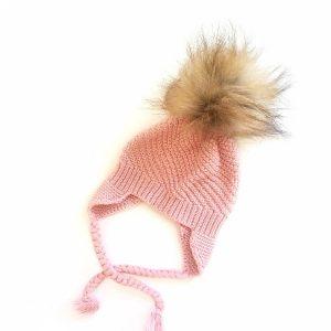 Knit Beanies - Pink